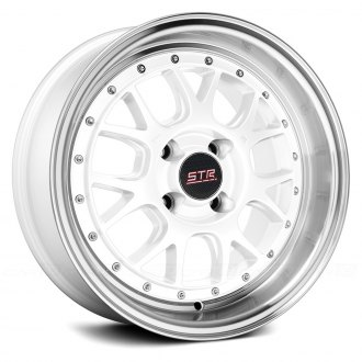 STR-RACING® - STR502 White with Machined Lip