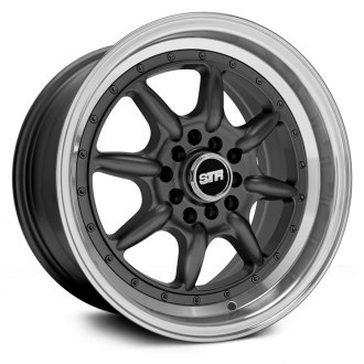 STR-RACING® - STR504 Gunmetal with Machined Lip