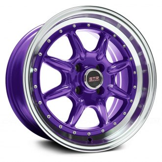 STR-RACING® - STR504 Purple with Machined Lip