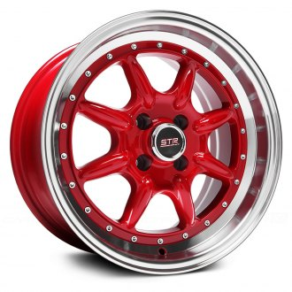 STR-RACING® - STR504 Red with Machined Lip