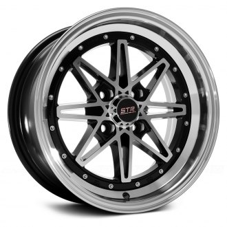 STR-RACING® - STR505 Black with Machined Face and Lip