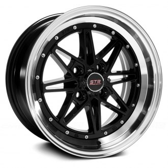 STR-RACING® - STR505 Black with Machined Lip