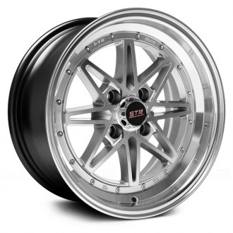 STR-RACING® - STR505 Silver with Machined Lip
