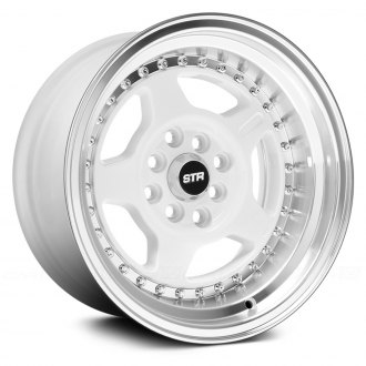 STR-RACING® - STR512 White with Machined Lip