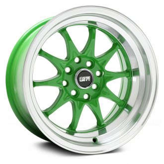 STR-RACING® - STR513 Green with Machined Lip