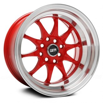 STR-RACING® - STR513 Red with Machined Lip