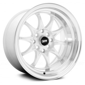 STR-RACING® - STR513 White with Machined Lip