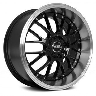 STR-RACING® - STR514 Black with Machined Lip