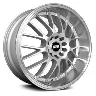 STR-RACING® - STR514 Hyper Silver with Machined Lip