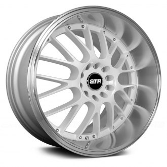 STR-RACING® - STR514 White with Machined Lip