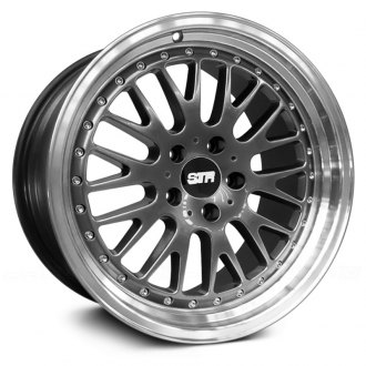 STR-RACING® - STR520 Gunmetal with Machined Lip