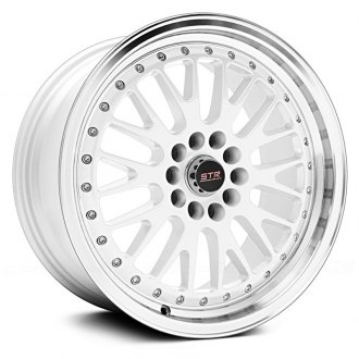 STR-RACING® - STR520 White with Machined Lip