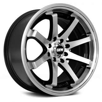 STR-RACING® - STR522 Black with Machined Face