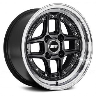 STR-RACING® - STR527 Black with Machined Lip