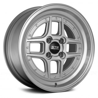 STR-RACING® - STR527 Silver with Machined Face