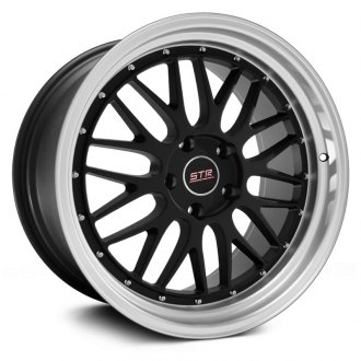 STR-RACING® - STR601 Black with Machined Lip