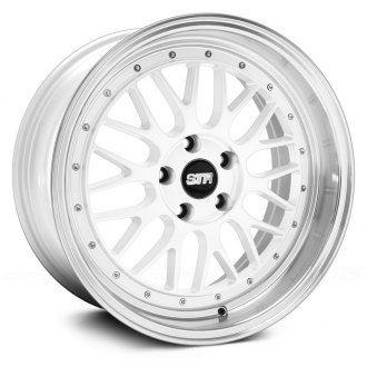 STR-RACING® - STR601 White with Machined Lip