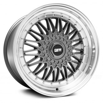 STR-RACING® - STR606 Gunmetal with Machined Lip
