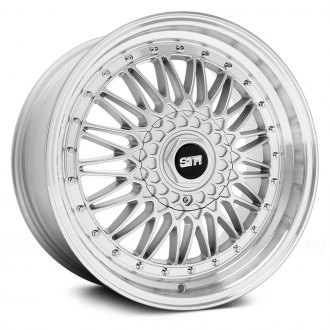 STR-RACING® - STR606 Silver with Machined Lip