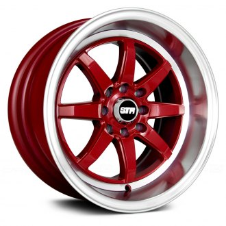 STR-RACING® - STR618 Red with Machined Lip