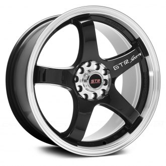 STR-RACING® - STR706 Black with Machined Lip