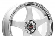 "STR-RACING® - STR706 White with Machined Lip (17"" x 7.5"", +40 Offset, 4x100 Bolt Pattern, 73.1mm Hub)"