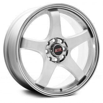 STR-RACING® - STR706 White with Machined Lip