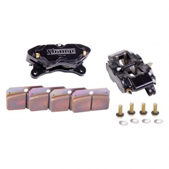 Strange® - Four Piston Directional Brake Caliper Kit with Hard Pads