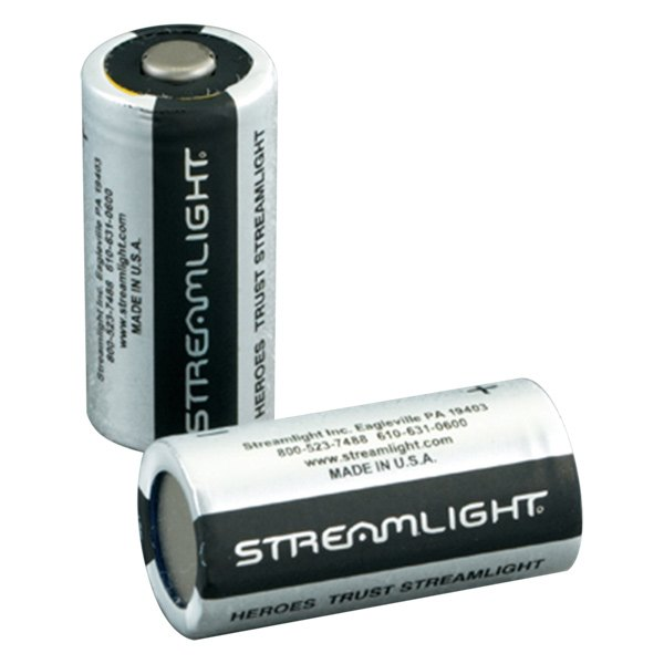 Streamlight® - 2 Piece Lithium CR123 Batteries for Scorpion™ Flashlight