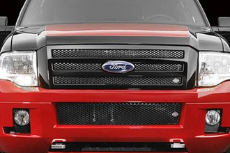 Street Scene® 950-76836 - Black Chrome Bumper Valance Speed Mesh Grille