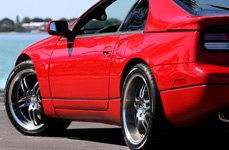 SUMITOMO® - HTR Z III Tires on Nissan 300ZX - Back View
