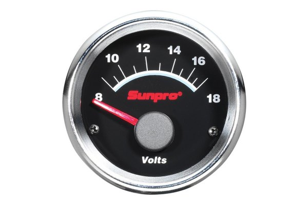 "Sunpro® - Super III 2"" Electrical Voltmeter Gauge, 8 - 18V"