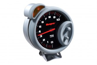 Sunpro® - Sport ST™ 5 Tachometer Gauge with Shift Light, Black Faceplate