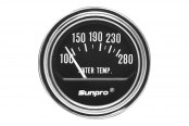 "Sunpro® - Retro Line™ Replacement 2"" Electrical Water Temperature Gauge, 100 - 280 F"