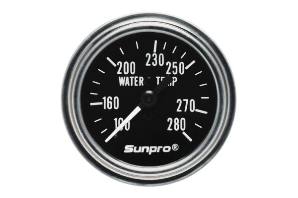 "Sunpro® - Retro Line™ Replacement 2"" Mechanical Water Temperature Gauge, 100 - 280 F"