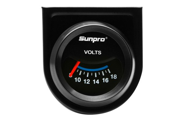 "Sunpro® - CustomLine™ 2"" Electrical Voltmeter Gauge, 8 - 18V"