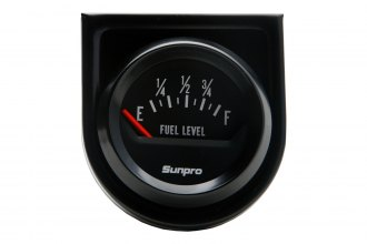 Sunpro® - StyleLine™ 2 Black Electrical Fuel Level Gauge