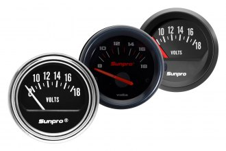 "Sunpro® - 2"" Electrical Voltmeter Gauge"