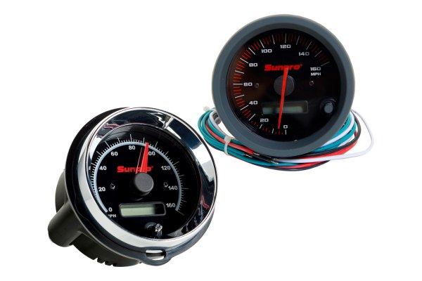"Sunpro® - 3-3/8"" Replacement Speedometer Gauge, 0 - 160 MPH"