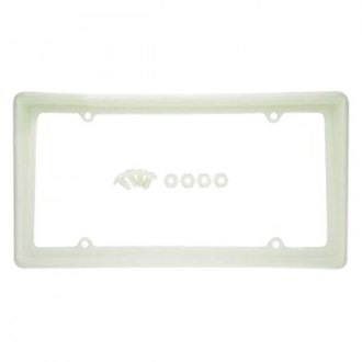 Superior Automotive® - EdgeEFFEX™ Euro Style White Carded Plastic License Plate Frame