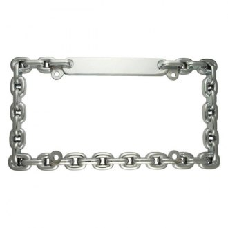 Superior Automotive® - EdgeEFFEX™ Fused Chain Style Chrome License Plate Frame