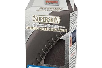 Superior Automotive® 58-0650B - Superskin™ Leather Sew-On Steering Wheel Cover