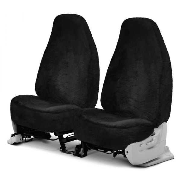 Superlamb® - Tailor-Made Original Sheepskin 1st Row Black Seat Covers