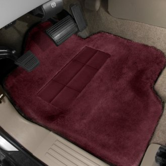 Superlamb® - Tailormade Sheepskin 1st Row Burgundy Floor Mats with Heel Pad