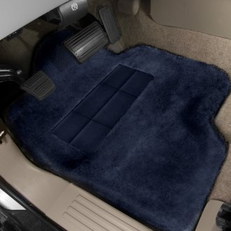 Superlamb® - Tailormade Sheepskin 1st Row Navy Floor Mats with Heel Pad