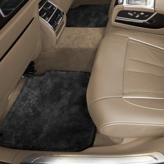 Superlamb® - Tailor-Made Sheepskin 2nd Row Black Floor Mats with Heel Pad