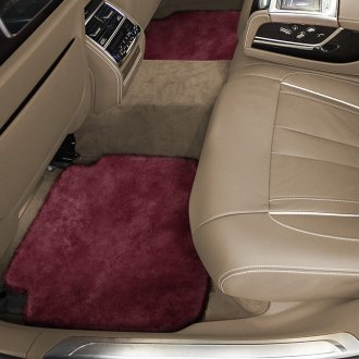Superlamb® - Tailor-Made Sheepskin 2nd Row Burgundy Floor Mats with Heel Pad