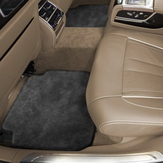 Superlamb® - Tailor-Made Sheepskin 2nd Row Charcoal Floor Mats with Heel Pad