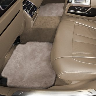Superlamb® - Tailor-Made Sheepskin 2nd Row Cream Floor Mats with Heel Pad