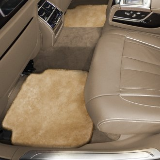 Superlamb® - Tailor-Made Sheepskin 2nd Row Gold Floor Mats with Heel Pad
